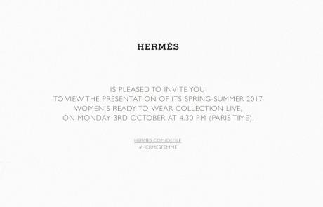 Hermes 2017 S/S 라이브 스트리밍