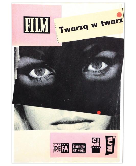 Piotr Krzymowski의 콜라주 작품인 'Twarza w Twarz'.
