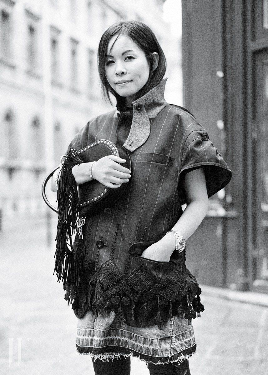 Sacai's Chitose Abe, in Paris.