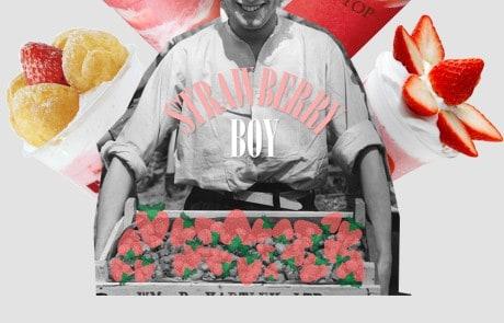 철 제대로 만난 딸기 음료