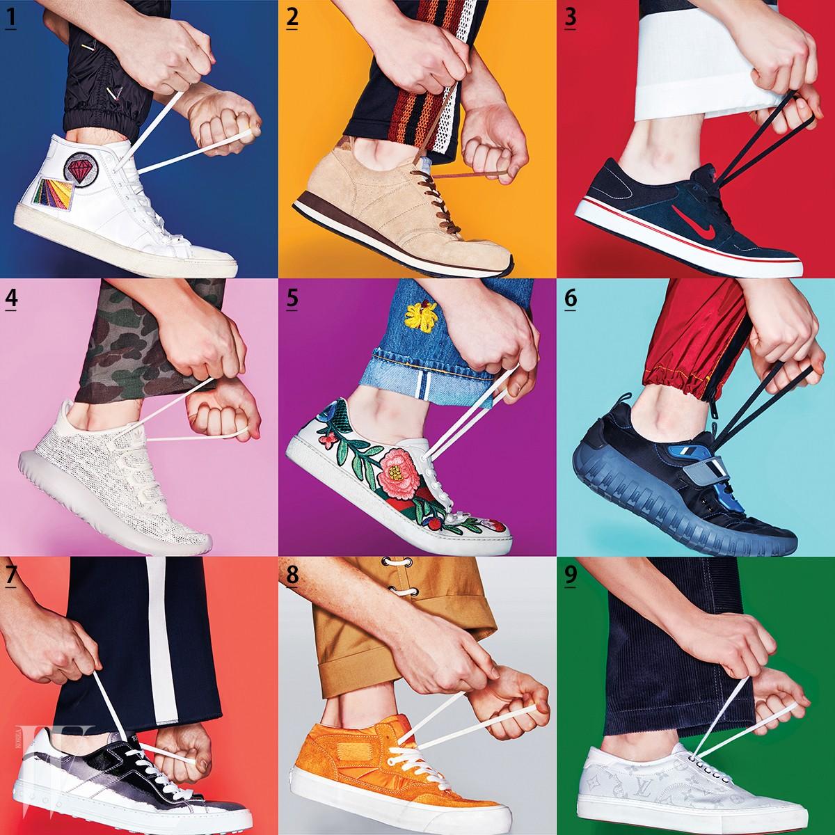 남자 신발 팝아트(path)