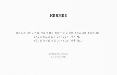 Hermes 2017 A/W READY-TO-WEAR 라이브 스트리밍