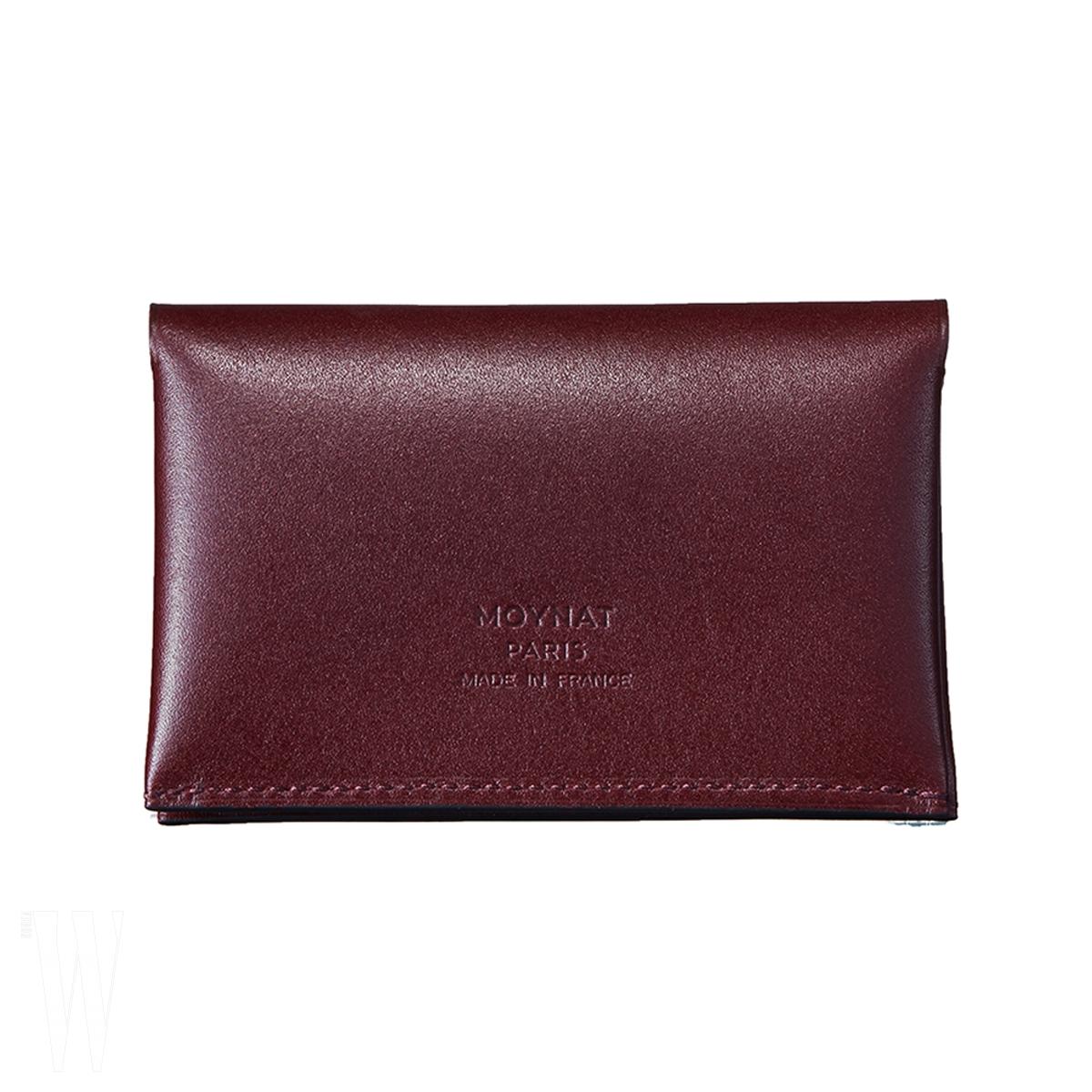 오리가미 모티프의 고급스러운 가죽 카드 지갑 겸 명함 지갑은 모이나 제품. 44만7천원