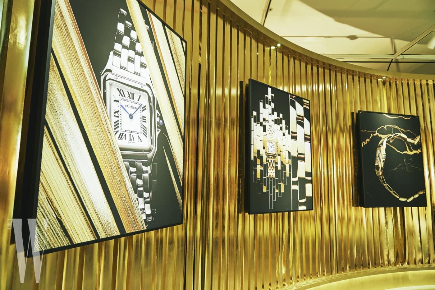 1983년 첫선을 보인 팬더 드 까르띠에 워치를 모던하게 재해석한 뉴 팬더 드 까르띠에 워치의 아티스틱한 이미지들. 분더샵 청담에선 까르띠에 메종 청담과 함께 국내 최초로 팬더 드 까르띠에 워치를 소개한다.