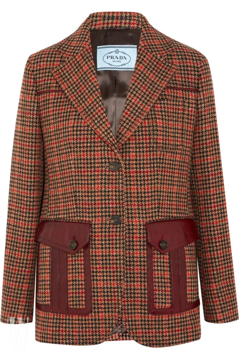 신 모스트 프라다 체크 재킷