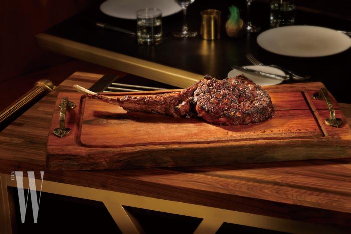 장 조지 스테이크 하우스의 스테이크. 독특한 향과 맛이 일품이다.