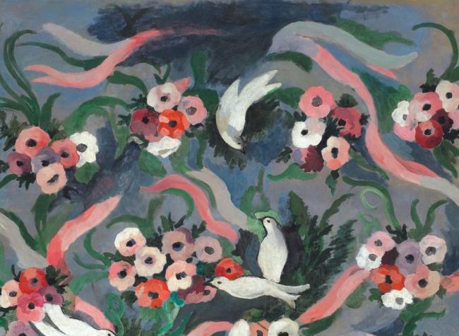 꽃과 비둘기 / 1935년경 / 캔버스에 유채 / 105x125 / Musée Marie Laurencin