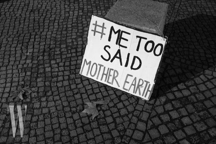 Climate Activist's Sign