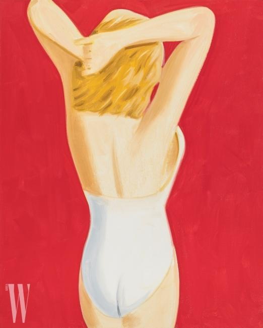 Alex Katz, Coca-Cola Girl 3, 2017 Oil on linen 127 x 101 cm (50 × 40 in) © Alex Katz, VAGA, New York/SACK, Korea 2018