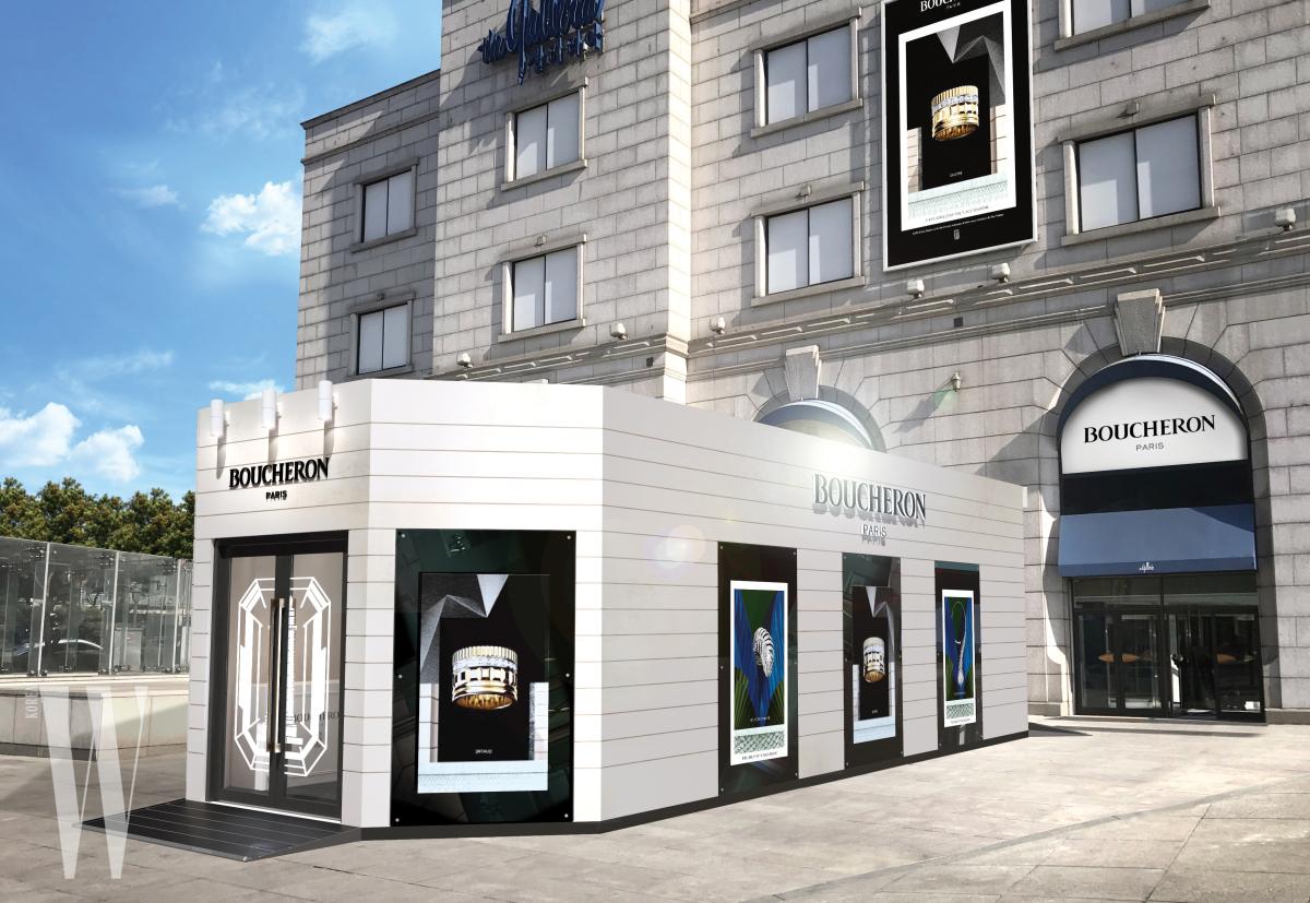 갤러리아 백화점 광장의 팝업스토어 전경.