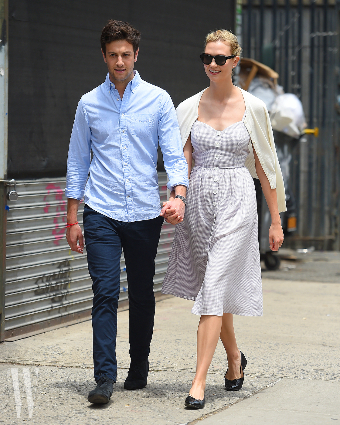 Karlie Kloss and Joshua Kushner seen holding hands in Soho,New York City