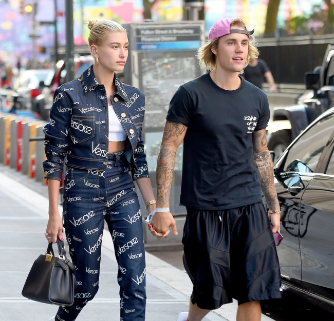Justin Bieber and Hailey Baldwin leave NOBU holding hands on July,05,2018 in New York City
