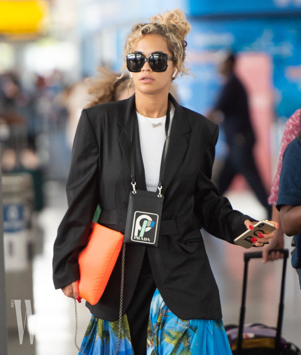 EXCLUSIVE: Rita Ora arrives at JFK airport to attend the MTV Video Music Awards in NYC.