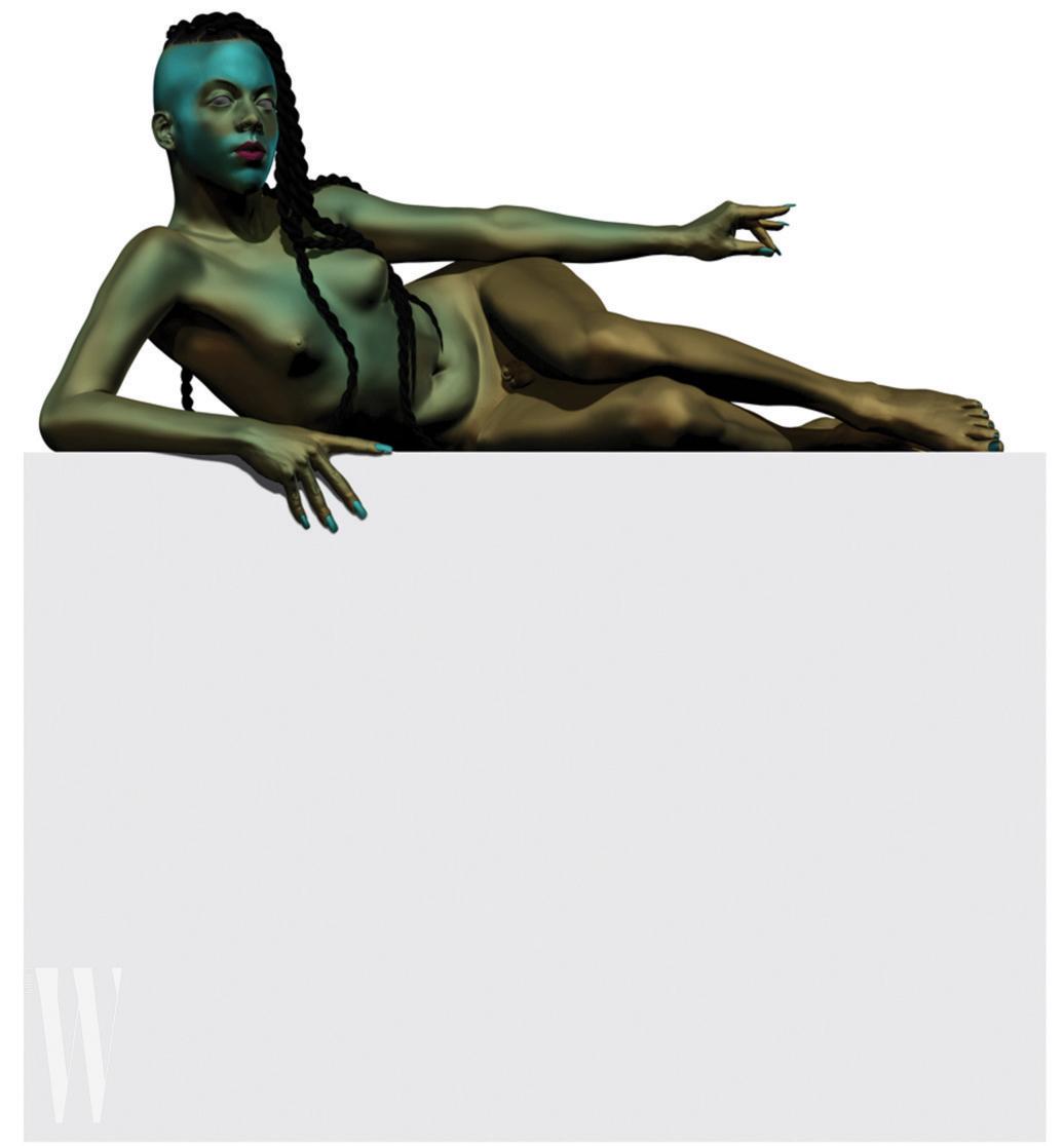줄리아나 헉스터블 조각상.