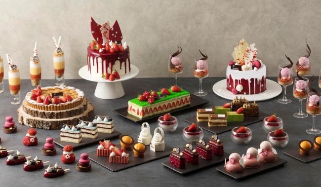 딸기 디저트를 대표하는 로비 라운지.바의 고급스러운 디자인과 맛의 딸기 디저트로 가득한,  '올 어바웃 스트로베리'