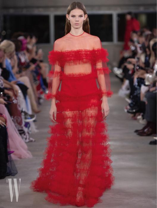 발렌티노 시스루 드레스