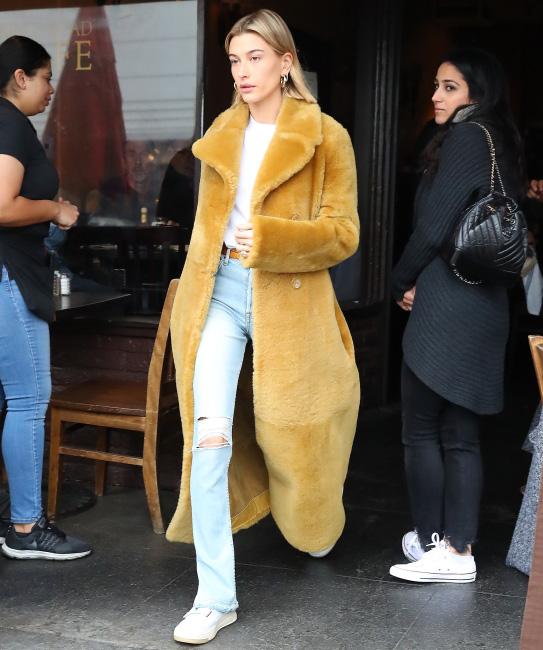 Hailey Bieber Leaves Kings Road Cafe In Los Angeles, CA