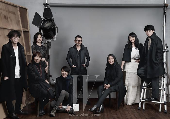 왼쪽부터 양희민, 김동순, 이영리, 송자인, 정욱준, 루비나, 김재현, 신장경.