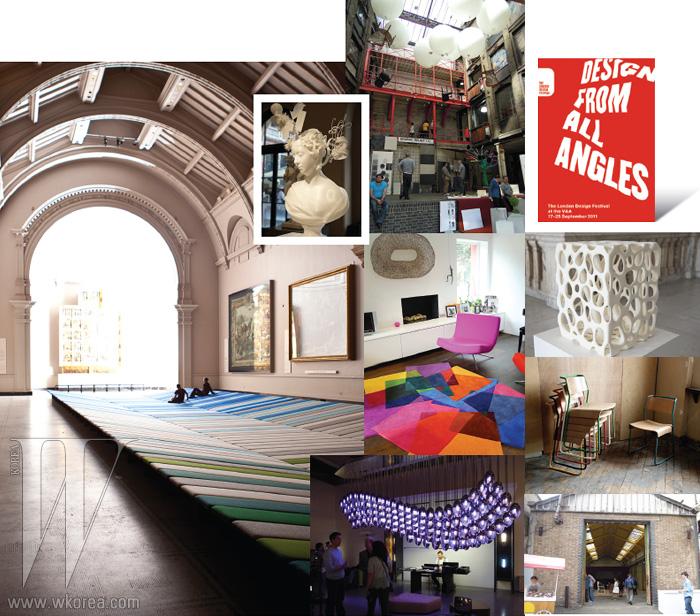 런던 디자인 페스티벌이 열리는 동안, 런던 시내 전체는 갤러리가 되고 지역과 거리 곳곳은 전시실이 되었다. 오래된 건축물에는 새로운 방식으로 그 건물을 바라볼 수 있는 오브제가 설치되거나 신진 디자이너들의 팝업스토어가 문을 열었으며, 디자인 스튜디오들은 그들의 작업 과정을 지켜볼 수 있게 일반인에게 공간을 개방했다.