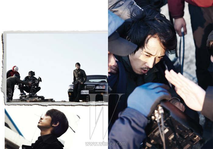 봄 그림을 담아야 하는 겨울의 드라마 촬영장에서 가장 무방비 상태인 사람은, 바로 배우다.