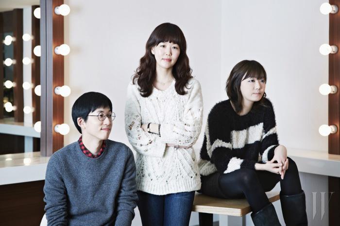 왼쪽부터   정효민 PD, 김지윤 작가, 김민지 PD