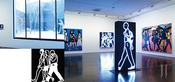 3월 23일까지 줄리언 오피 개인전이 열리고 있는 국제갤러리 2관.