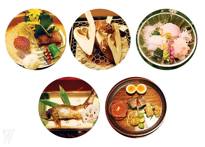 교토의 전통 요리인교료리는 3시간에 걸쳐식사가 이어진다.작은 개인 상차림 안에는100년 넘게 이어진전통과 계절이 변화하는찰나가 동시에 담긴다.