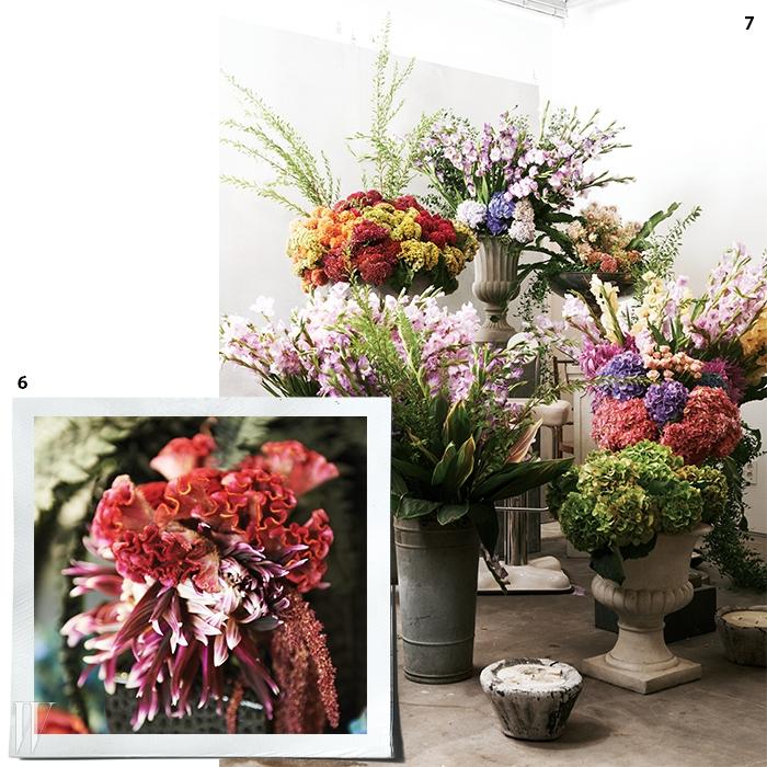 6. 붉은 벨벳 같은 질감이특징인 맨드라미.7. 아틀리에의 꽃은 모두 하나하나그녀의 손길을 거쳐 재탄생한다.