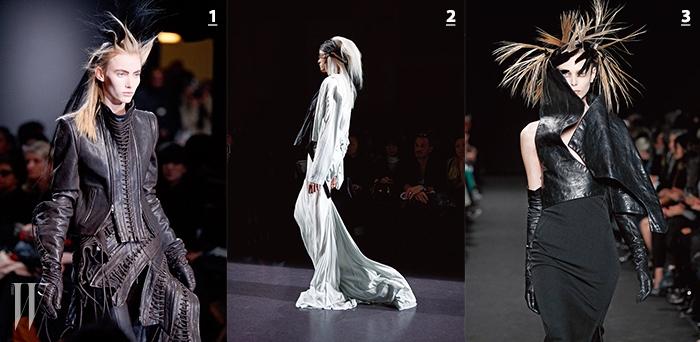 1. 관능미에 대한 새로운 해석을내놓은 2011 F/W 컬렉션.2. 드라마틱한 드레스로 섬세한감성을 폭발적으로 드러낸2010 S/S 컬렉션.3. 과감한 가죽 커팅으로 건축적인룩을 선보인 2012 F/W 컬렉션.
