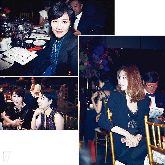 왼쪽 상단부터 시계방향으로최영지,레이스 드레스와매니시한 재킷의조화가 멋진 김유미,P&G 이수경 대표와 두산 매거진 박혜원 전무.