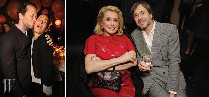 왼쪽 |패션 칼럼니스트 데렉 블라스버그와아만다 할레치.오른쪽 |카트린 드뇌브와산업디자이너 마크 뉴슨.