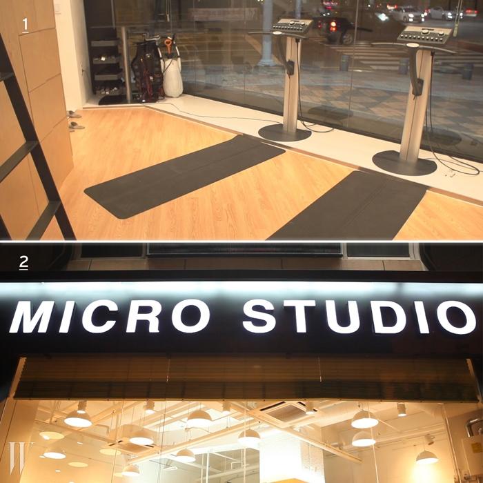 1 & 2. 마이크로 스튜디오의 모습.