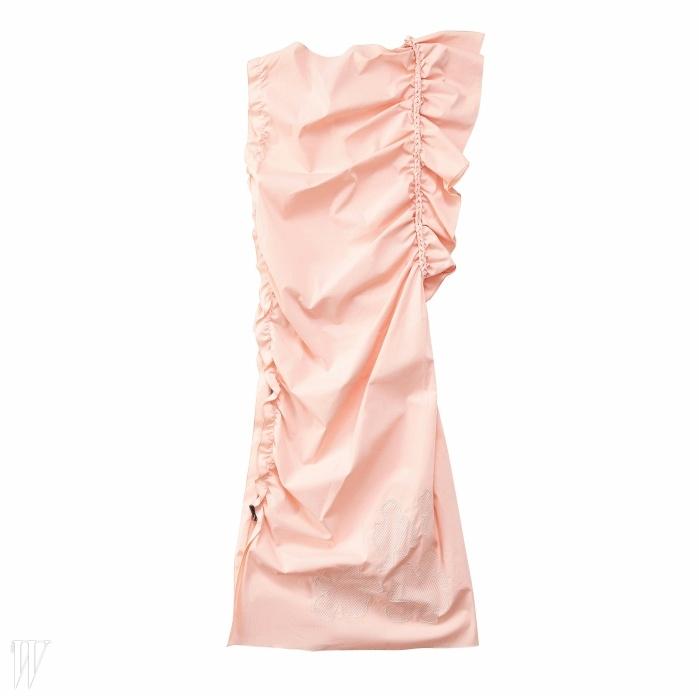 BOTTEGA VENETA 우아한 러플 장식 코튼 드레스. 가격 미정.
