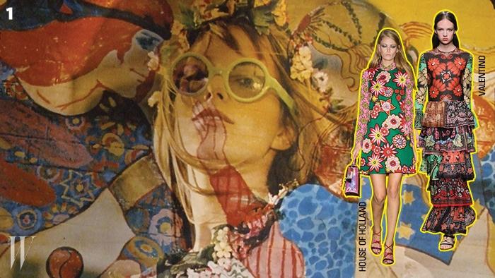 1. 히피 문화를녹여낸 1968년도 영화 <원더월>의여주인공 제인 버킨.
