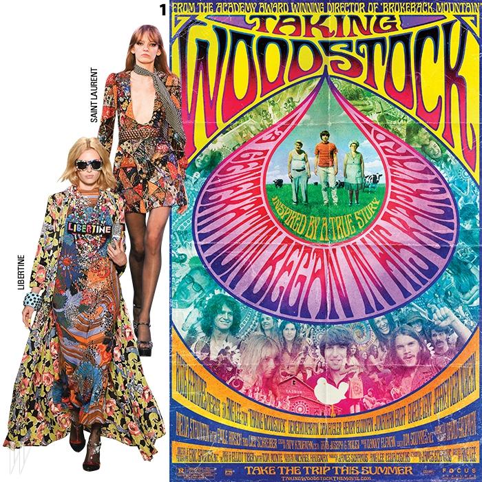 1. 1969년 여름을 뜨겁게 달군 히피최대의 축제, 우드스탁 페스티벌의포스터.