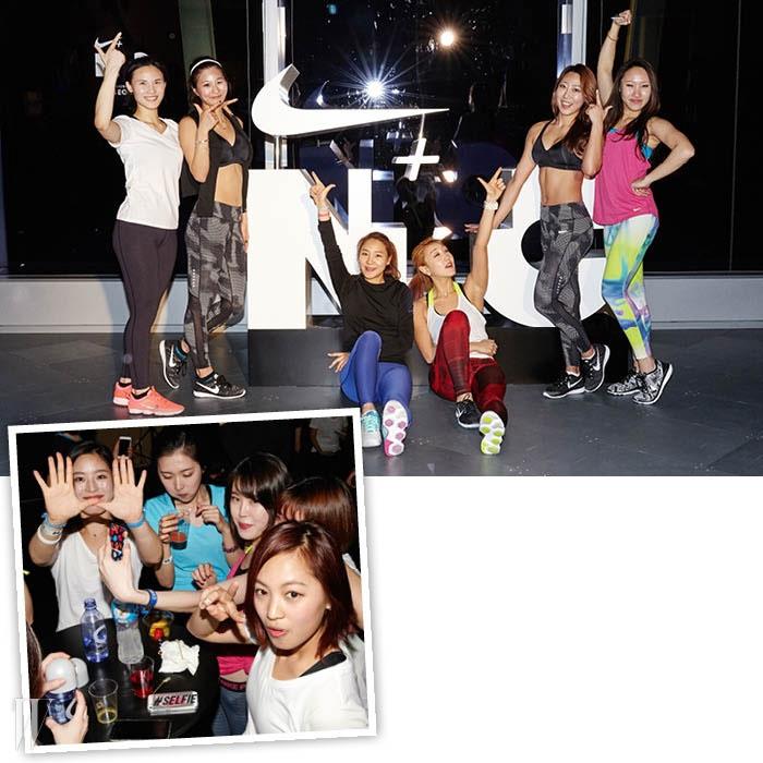 세션이 끝난 후 '인증샷'과 애프터 클럽 파티를 즐기고 있는 참가자들.