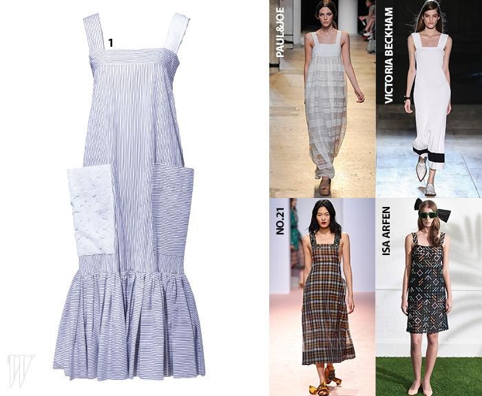 레이스 포켓이 특징인 피너포어 드레스는 유돈 초이 제품. 가격 미정.