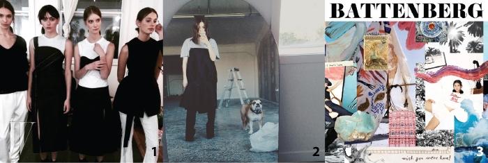 1. 조지아 앨리스의간결한 블랙&화이트 룩.2. 조지아 앨리스의 룩을가장 잘 소화하는 디자이너조지아 커리의 인스타그램셀피.3. 조지아 앨리스의인스피레이션 이미지 보드.