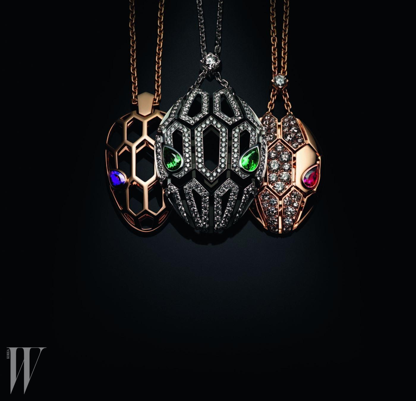 다채로운 색상의 원석이 각기 다른 매력을 뿜어내는 불가리의 뉴 세르펜티 컬렉션