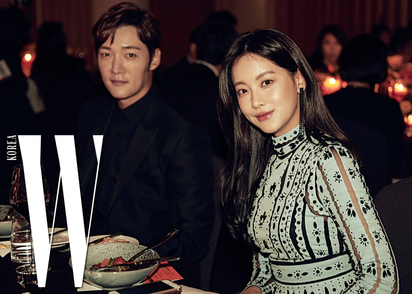 갈라 디너 테이블에서 만난 배우 최진혁과 오연서.