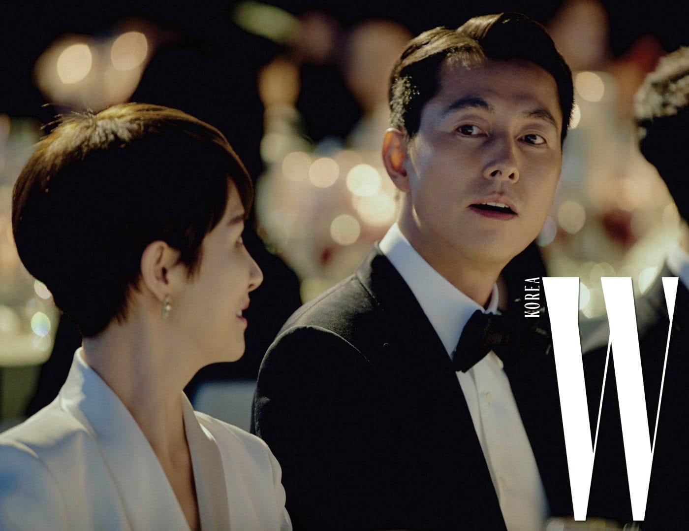 갈라 디너의 분위기를 고조시킨 배우 김선아와 정우성의 찰나.