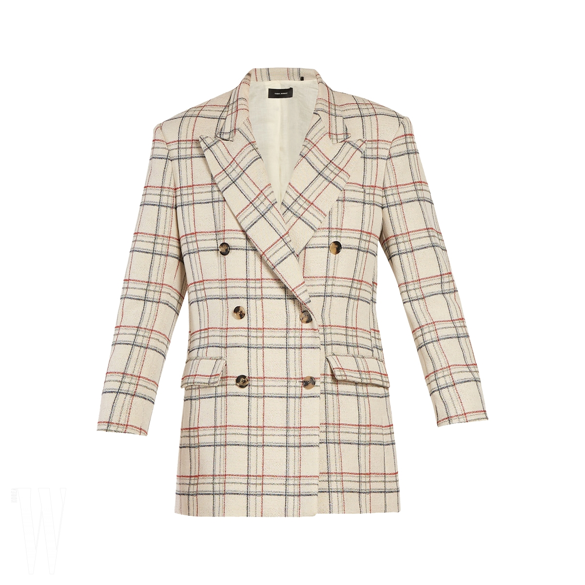 ISABEL MARANT 체크무늬 재킷은 이자벨 마랑 제품. 1백만원대.