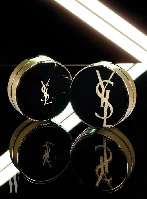 YVES SAINTLAURENT BEAUTY 르 쿠션 엉크르 드 뽀 클래식 14g, 7만9천원대. 르 쿠션 엉크르 드 뽀 모노그램 에디션 한정 제품. 14g, 8만2천원대.