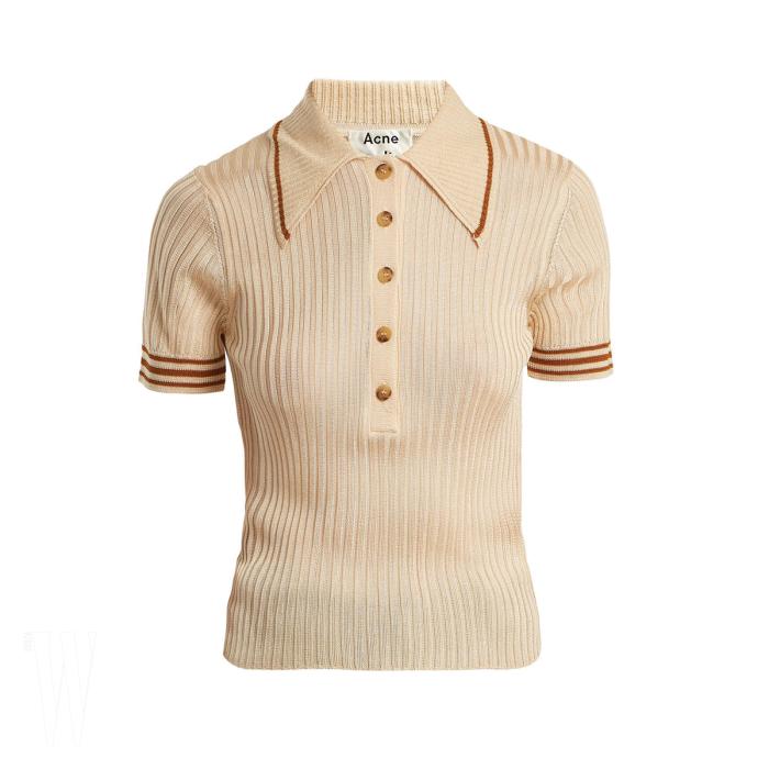 ACNE STUDIOS 골지 니트 폴로 셔츠는 아크네 스튜디오 제품. 30만원대.