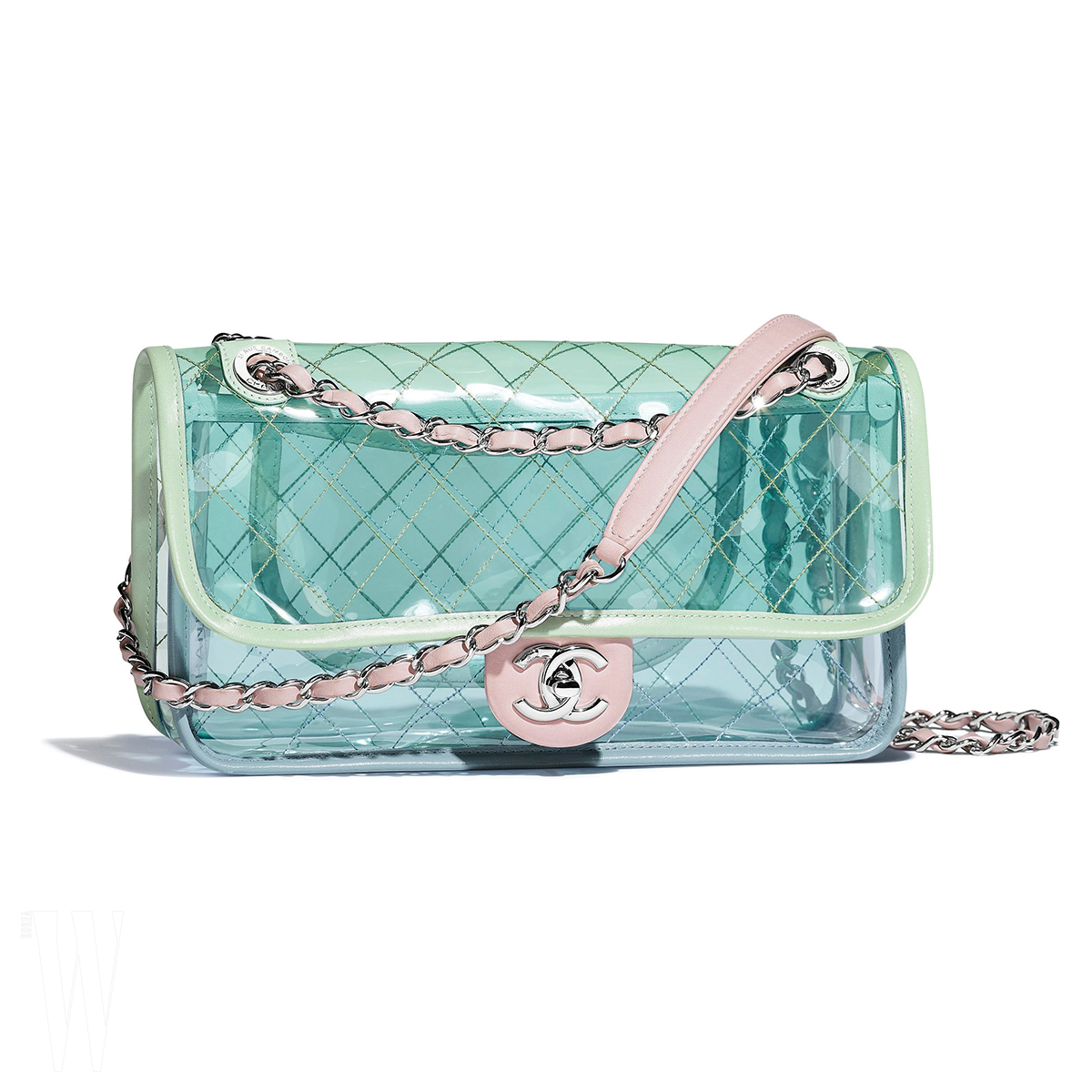 A57409-Y83559-C2488 Multicoloured bag in PVC and leather