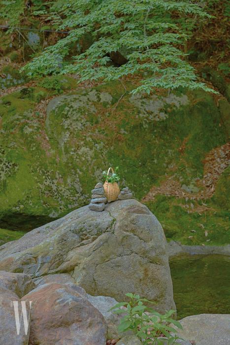 원형 모양의 바구니 백은 율라 존슨 by 네타포르테 제품. 30만원대.