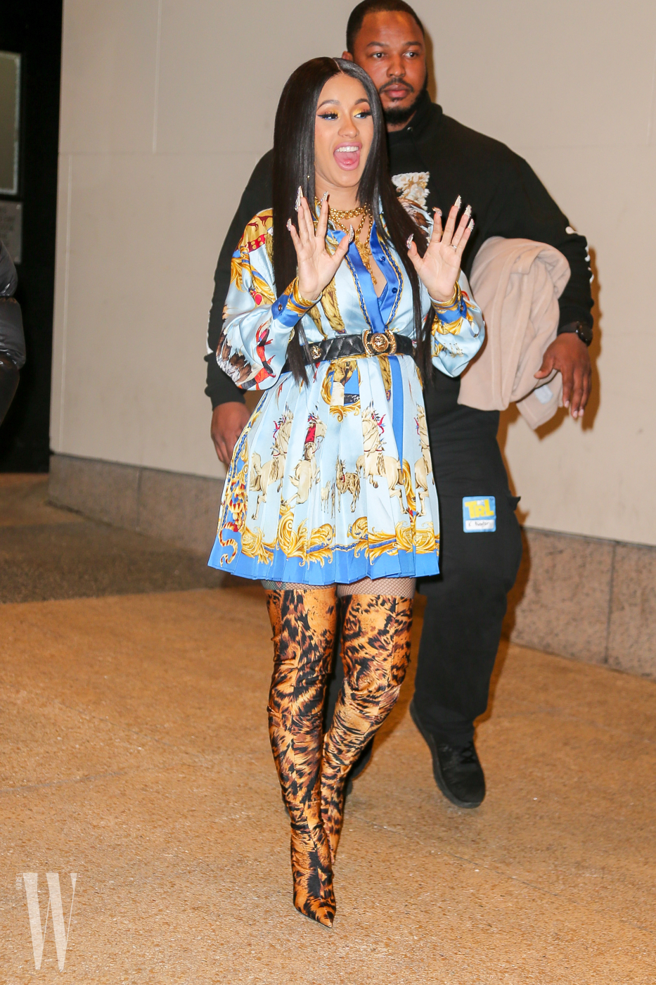 Cardi B was spotted leaving the the TRL studios in New York City