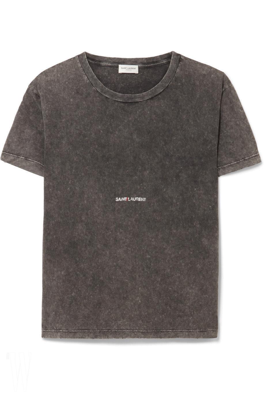김신 생로랑 로고 티셔츠