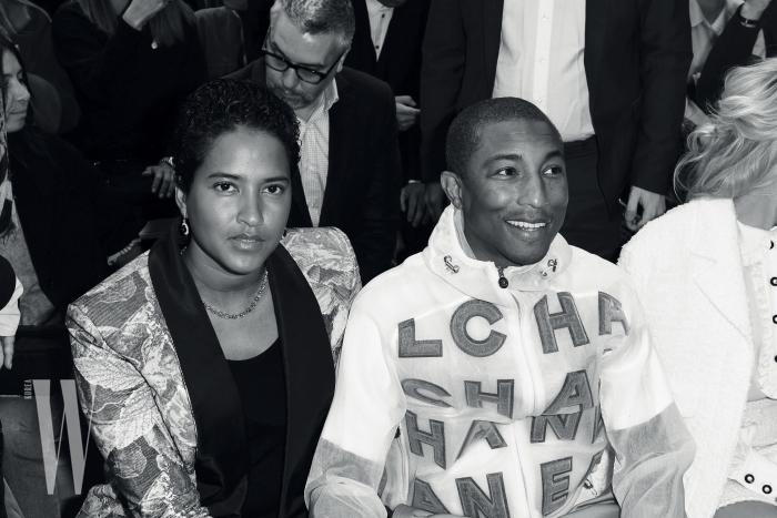 두 손 꼭 잡고 참석한 퍼렐 윌리엄스와 그의 아내.