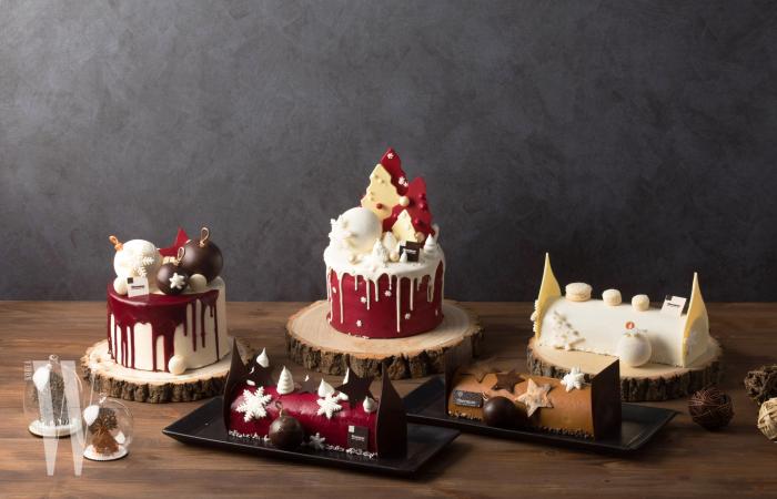쉐라톤 서울 디큐브시티 호텔만의 유니크한 디자인으로 선보이는 6종류의 '크리스마스 케이크'